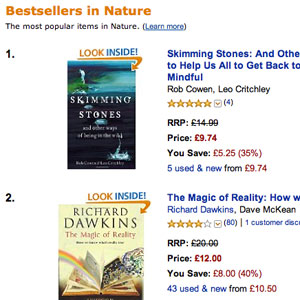 Skimming Stones on Amazon at number 1